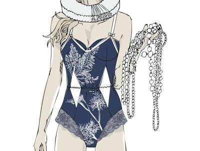 Create an illustration for lingerie, swimwear and sportswear designs