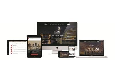 Design web template - landing page psd