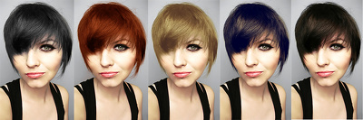 Change your hair color  in pictures with natural colors