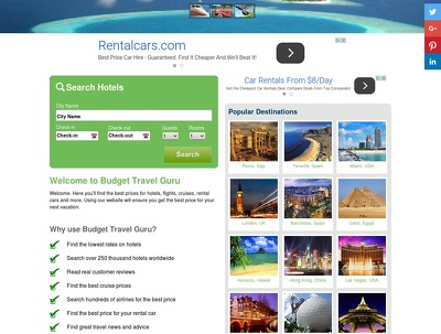 Make a WordPress Automated  Money Making Travel Search Engine site