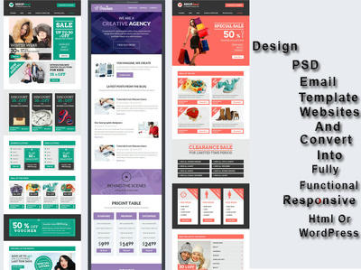 Design and code Html email campaign, Html newsletter or Email Template