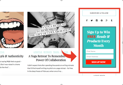 Create a Sidebar Email Option for your Wordpress Website (Includes packages)