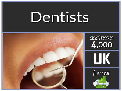Send you current high quality 4000 plus uk dentists contact or emails