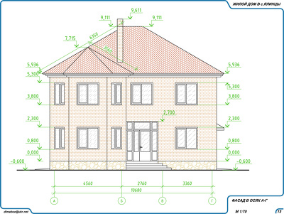 Draw CAD  plans/elevations of 2 story house