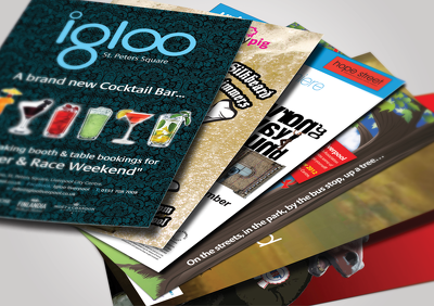 Design attractive looking postcard, flyer, banner, leaflet, brochure, menu card, etc.