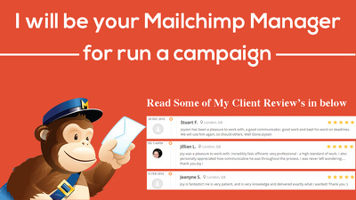 Be your Mailchimp Manager for run a campaign