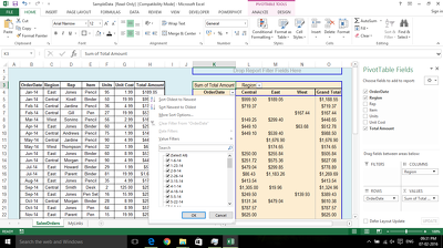 Arrange your data into a meaningful report using Pivot Table