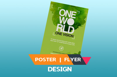 Design Double Side Poster, Brochure, Flyer,  leaflet, Advertisement
