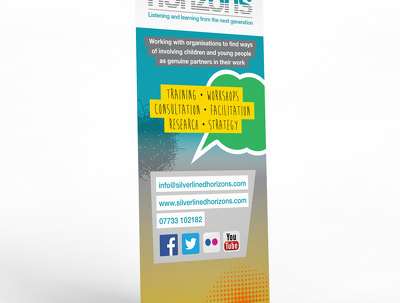 Design a roll-up event banner