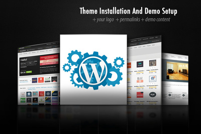 Install Wordpress Theme and Set it like Demo (+ Extra Features)