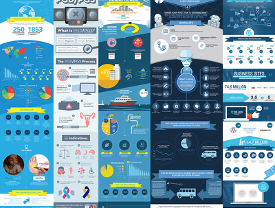Design high quality info graphics