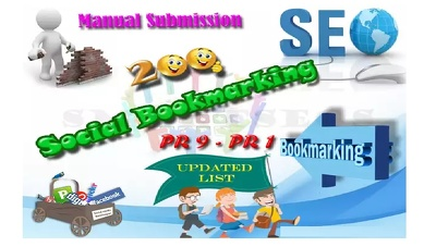 Do Manual Social bookmarking upto 150+ sites Good PR  with guaranteed Index