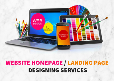 Create Stunning Design of your Website Homepage / Landing Page