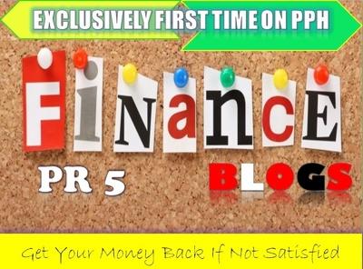 Do Guest Post on PR5 Finance HQ Blog