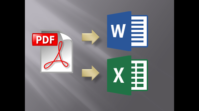 Convert scans , pdf files , pictures in to Word or Excel Documents