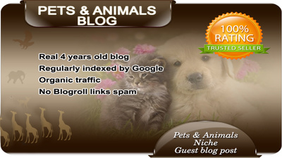 Publish Your Content Guest Post on my PETS Blog