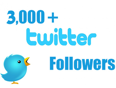 Add 3,000 real twitter followers to Improve Your Social Media & Increase SEO