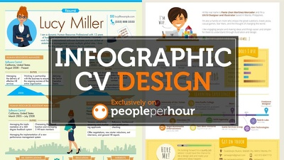 Turn your CV into an infographic with free unlimited revisions