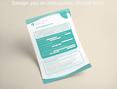 Design you an interactive, fillable PDF form