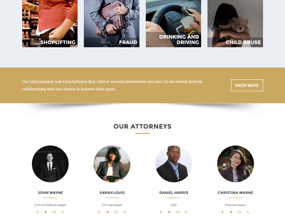 Provide homepage PSD for Law Firm