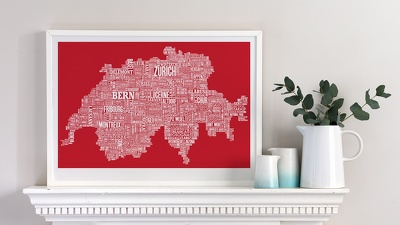 design your words based infographic and any Typographic Map