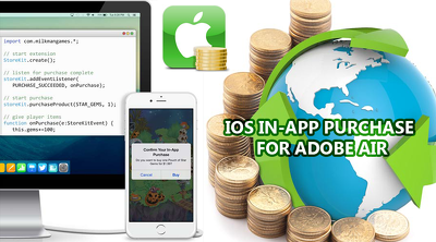 Integrate iOS with In-App Purchases in your adobe air applications