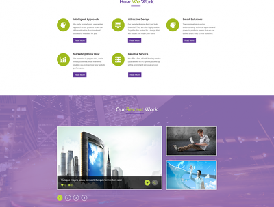 Design 100% tailor made Home Page PSD Layout for your website