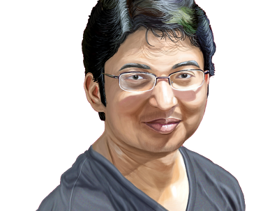 Create a realistic portrait illustration from your photo