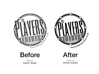 Professionally convert your logo to a high resolution vector format