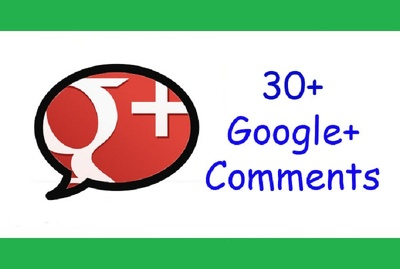 Give you 30+ Custom Google+ Comments for your post, status or photo