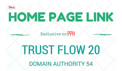 Home Page link on Trust Flow 20 Amazing Site