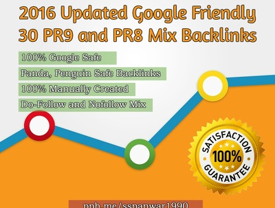 Create 2016 Updated Google Friendly 30 PR9 and PR8 Mix Backlinks