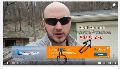 50 Real Human Youtube Adsense Ads clicks,50 views,20 Likes,10 subscribe,5 comments