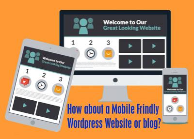 Create professsional wordpress website or blog
