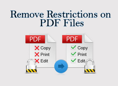 Remove passwords and restrictions from secured PDF