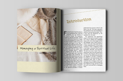 Design interior book layout professionally