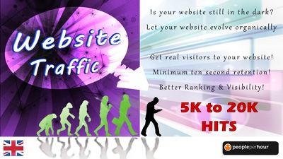Send you 60000 traffic hits to your site from real visitors with 10s retention