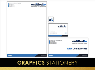 Design your stationery: business card, compliments slip and letterhead