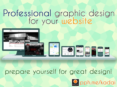 Professional graphic design for Your website