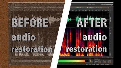 Repair and enhance up to 30 minutes of audio