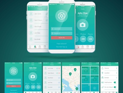 Design stunning iPhone/Android mobile app screens with unlimited revisions