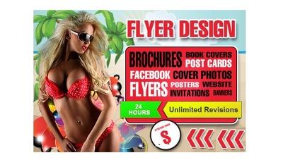 Design amazing flyer, poster, brochure, card