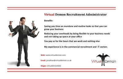 provide Recruitment Administration support for 1 hour