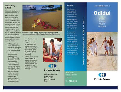 Design your business brochure for print and online