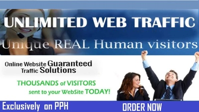 Send 30000 real web traffic from Google or Facebook