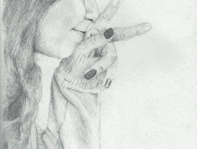 Hand-drawn pencil portrait from your picture