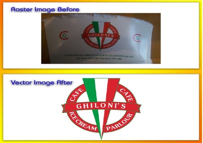 Convert lower resolution raster graphics to clean high quality vector