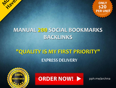 200 High PR 9-1 Manual Social Bookmarks with Guaranteed Indexing