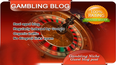 Publish Your Content Guest Post on my BETTING Gambling blog