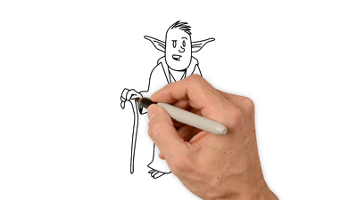 Create a whiteboard animation with custom drawings